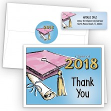 Cap & Tassel Thank You Card Package
