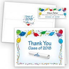 Flying Grad Caps Thank You Card Package