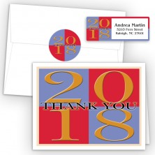 Color Squares Thank You Card Package
