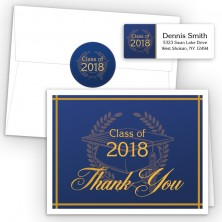 Crest on Blue Thank You Card Package