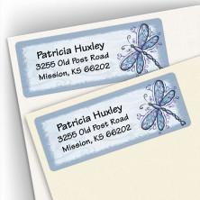 Cobalt Dragonfly Address Labels
