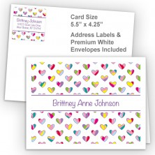 Colorful Hearts Thank You Card Package
