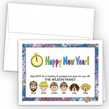 Confetti Happy New Year Card