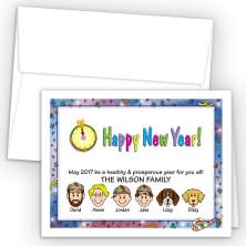Confetti Happy New Year Card