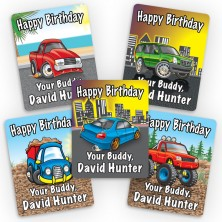 Cool Vehicles Mini Gift Labels