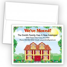 Country Home Moving Card