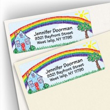 Crayon House Address Labels