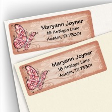 Crimson Butterfly Address Labels