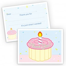 Cupcake Fill-In Thank You Cards