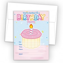 Cupcake Fill-In Birthday Party Invitations