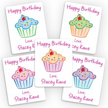 Cupcakes Mini Gift Labels