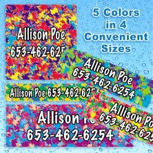 Dazzle Waterproof Name Labels For Kids