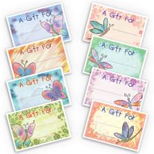 Dragonflies Butterflies Gift Labels