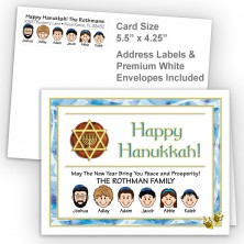 Dreidel Happy Hanukkah Fold Note Set
