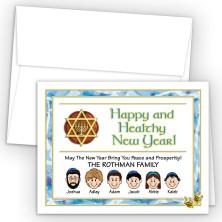 Dreidel Rosh Hashanah Cards