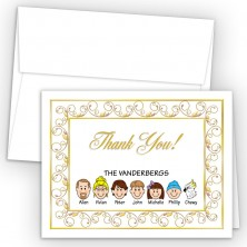 Elegant Foldover Family Thank You Card