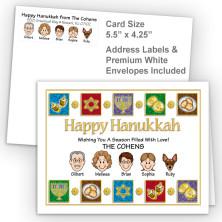 Elements Happy Hanukkah Fold Note Set