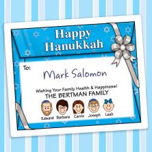 Envelope Hanukkah Gift Label