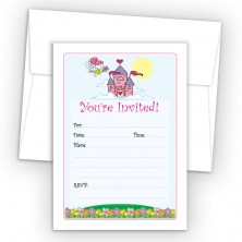 Fairy Tale Fill-In Birthday Party Invitations