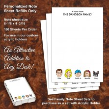 Family Note Sheet Refill