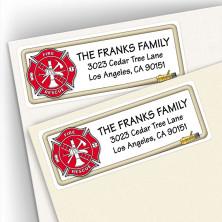 Firefighter Emblem Address Labels