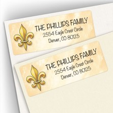 Fleur De Lis Address Labels