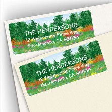 Flowered Forest Address Labels