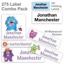 Friendly Monsters Label Combo Pack