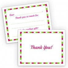Generic Girl Fill-In Thank You Cards