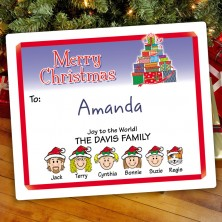 Gift Tree Christmas Gift Label