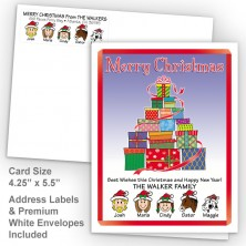 Gift Tree Merry Christmas Fold Note Set