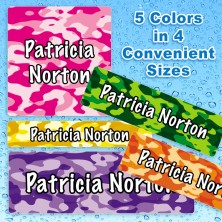 Girl Camo Waterproof Name Labels For Kids