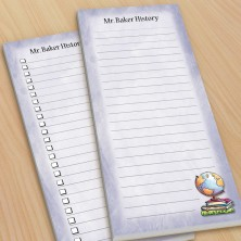 Globe Teacher To-Do Pads