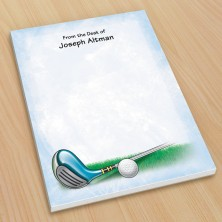 Golf Design 1 Small Note Pads
