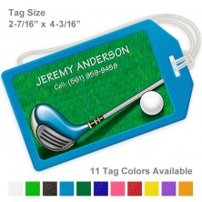 Golf Design 3 Luggage Tag