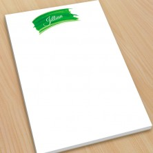 Green Watercolor Large Note Pads