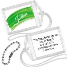 Green Watercolor Mini Bag Tags