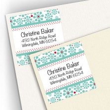Groovy Flowers Square Address Labels