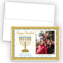 Hanukkah Menorah 2 Photo Upload Holiday Card