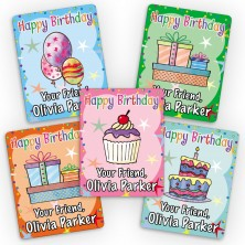 Happy Birthday Mini Gift Labels