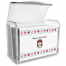 Hearts Family Note Card Set with Acrylic Holder