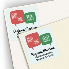 HoHoHo Square Address Labels