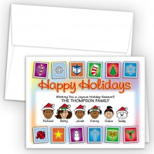 Holiday Stamps Happy Holiday Fold Note