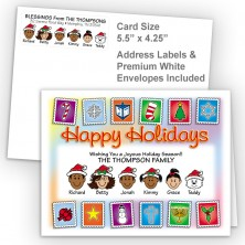 Holiday Stamps Happy Holidays Fold Note Set