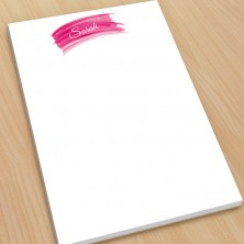Hot Pink Watercolor Large Note Pads