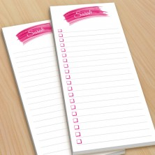 Hot Pink Watercolor To-Do Pads - with magnets