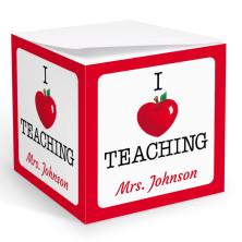I Love Teaching Memo Cube