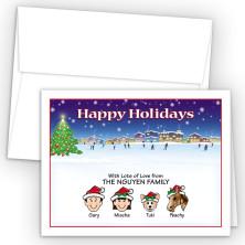 Ice Skating Happy Holiday Fold Note