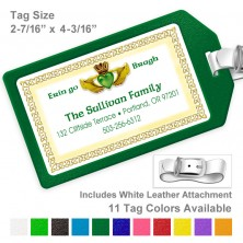 Irish Claddagh Luggage Tag