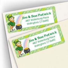 Irish Leprechaun Labels